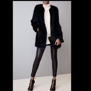 Ann Taylor Black Faux Leather Pants